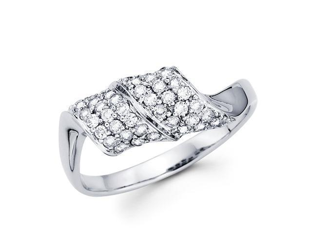 Diamond Anniversary Ring 14k White Gold Fashion Band (0.43 Carat)