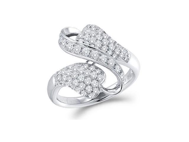 Diamond Ring Fashion Band 14k White Gold (0.99 Carat)