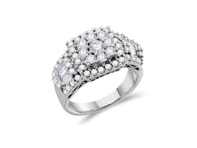 Diamond Anniversary Ring 14k White Gold Anniversary Bridal (1.50 CT)