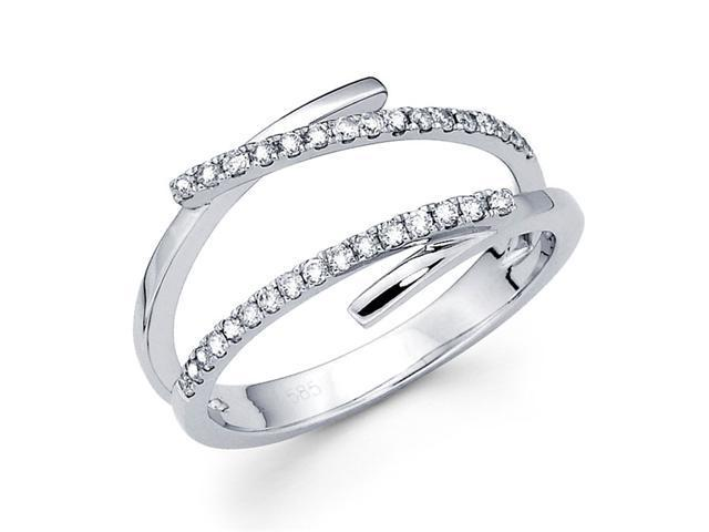 Diamond Anniversary Ring 14k White Gold Fashion Band (1/4 Carat)