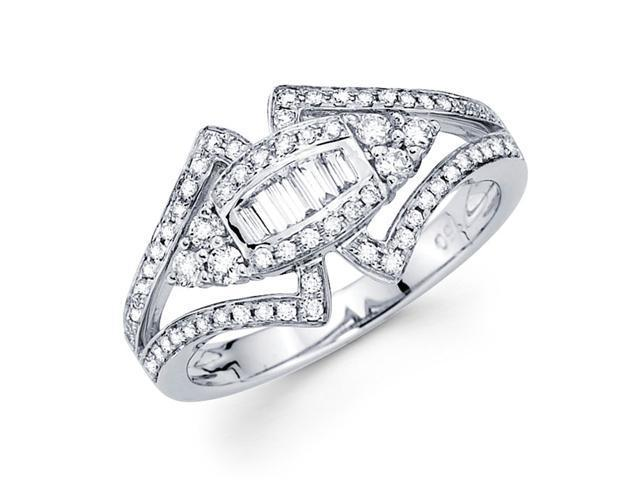 Diamond Anniversary Band 18k White Gold Fancy Ring (0.56 Carat)