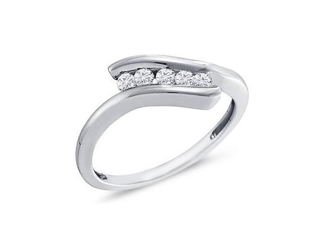 Womens Diamond Promise Ring 10k White Gold (1/5 Carat)