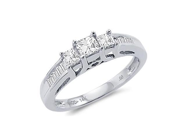 .50CT Ladies Diamond Ring Engagement 14k White Gold New