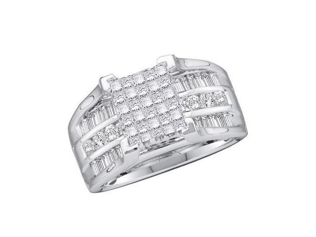 Diamond Ring 14k White Gold Engagement Anniversary (1.50 Carat)