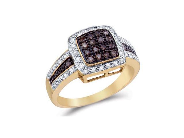 Champagne Brown Diamond Ring 14k Yellow Gold Anniversary (1/2 Carat)