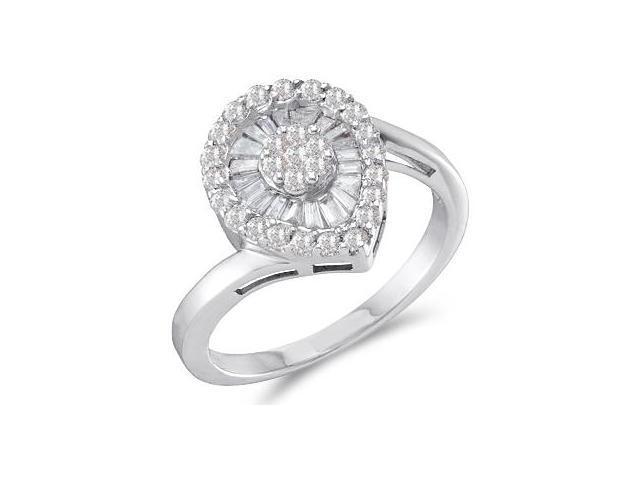 Diamond Ring Anniversary Fashion Band 14k White Gold (3/4 CTW)