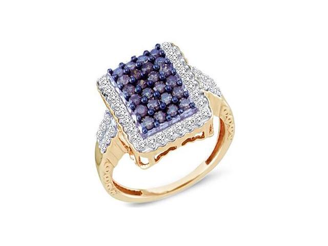 Champagne Brown Diamond Ring 10k Yellow Gold Anniversary (1.00 CT)