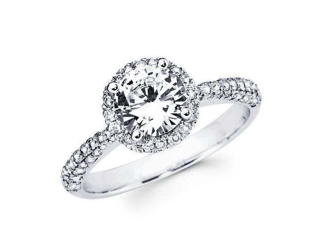 Cirque Diamond Engagement Ring 18k Gold Pave Tapered Shank Semi Mount