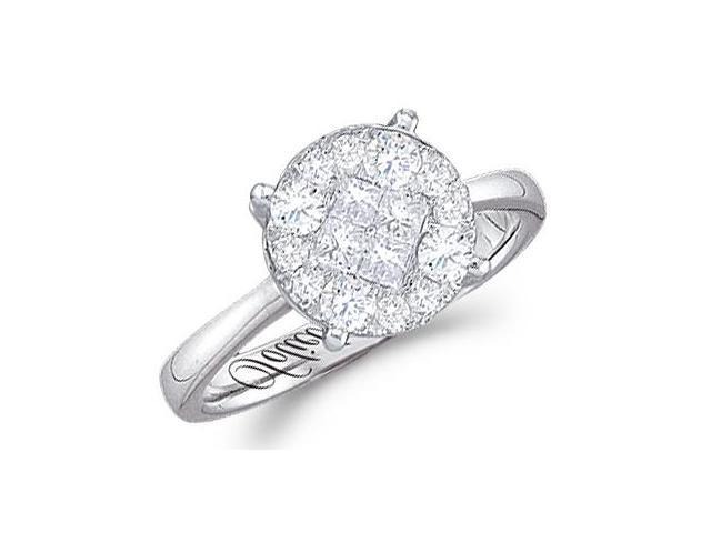 Diamond Engagement Ring Round Solitaire Setting 14k White Gold (1/2ct)
