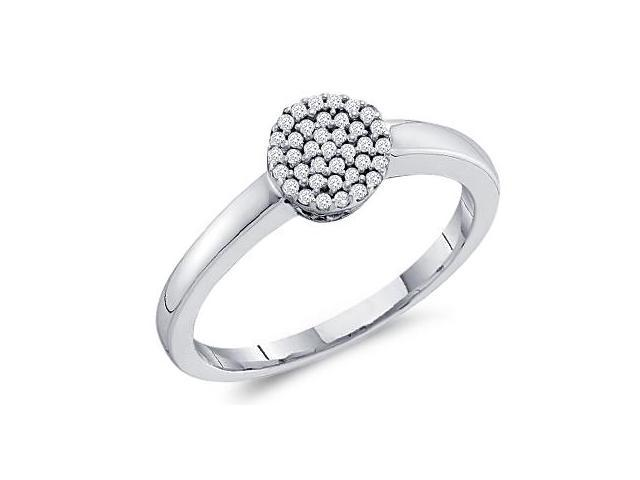 Diamond Ring Anniversary Cluster 10k White Gold (0.12 Carat)