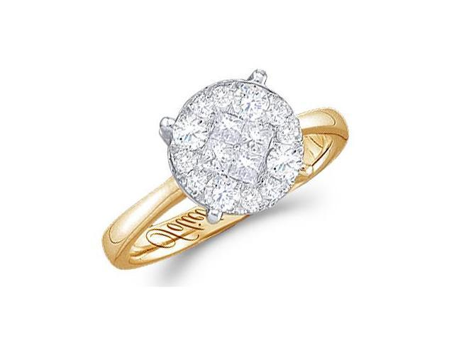 Diamond Engagement Ring Round Solitaire Setting 14k Yellow Gold 1/2 ct