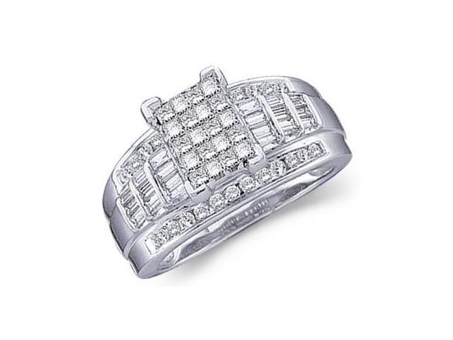 Diamond Ring 14k White Gold Engagement Anniversary (1.00 Carat)