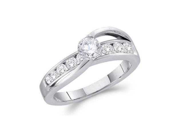Diamond Engagement Ring 14k White Gold Wedding Band (1.00 Carat)
