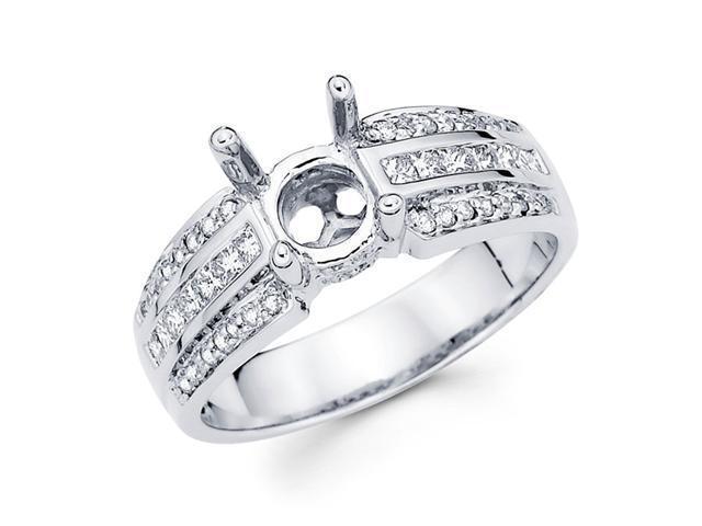 Setting Sidestones Diamond Engagement Ring 18k White Gold (1/2ct)
