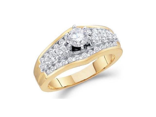 Diamond Engagement Ring 14k Yellow Gold Bridal (1.00 Carat)