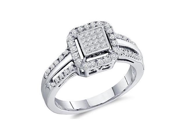 Princess Diamond Ring Engagement Anniversary 10k White Gold (1/4 CTW)