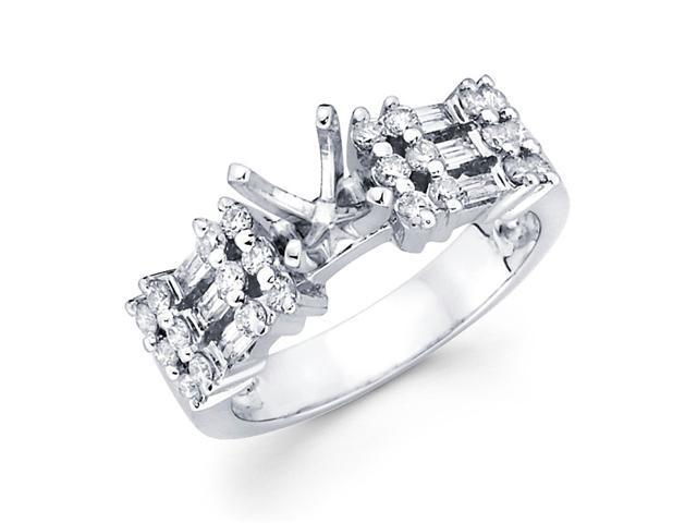Diamond Engagement Ring with Sidestones 18k White Gold (1/2ct)
