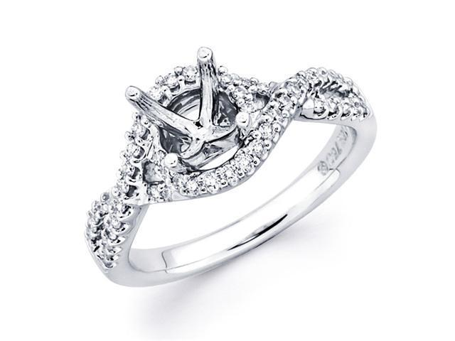 Diamond Engagement Ring with Sidestones 18k White Gold (1/3ct)