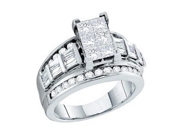 Princess Diamond Engagement Ring 14k White Gold Anniversary (1.00 CTW)