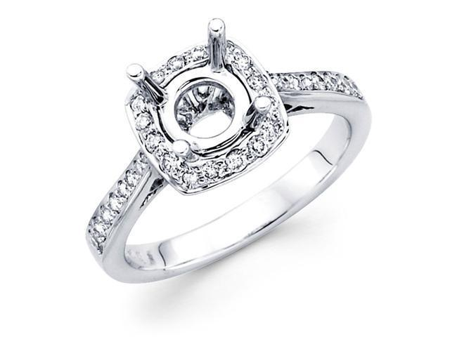 Setting Sidestones Diamond Engagement Ring 18k White Gold (1/3ct)