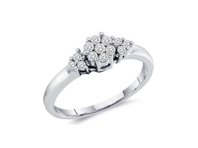 Womens Diamond Ring Anniversary Band Channel 14k White Gold (1/4 CT)