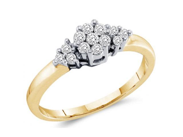 Diamond Ring Engagement Anniversary 14k Yellow Gold Bridal (1/4 Carat)