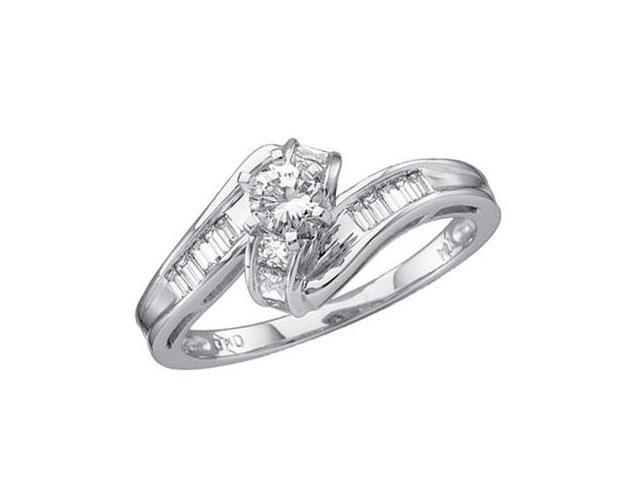 Diamond Ring 14k White Gold Engagement Anniversary (1/2 Carat)