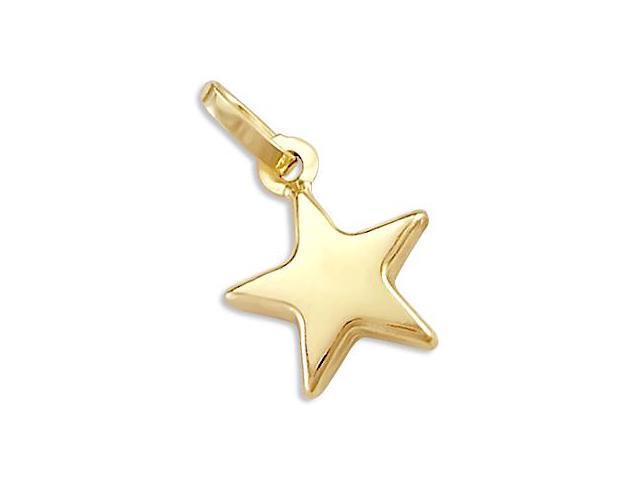 Star Pendant 14k Yellow Gold Charm Fashion Polished