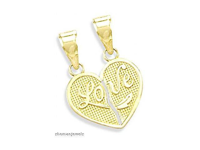 Breakable Heart Pendant Love 14k Yellow Gold Charm