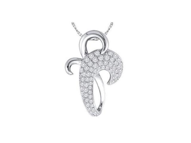 Diamond Pendant Cross 10k White Gold Charm Popular (0.25 Carat)