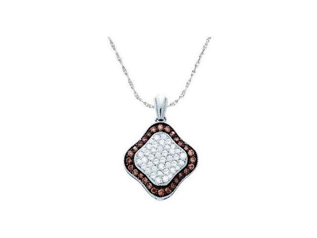 Brown Chocolate Diamond Fashion Pendant 10k White Gold (1.00 Carat)