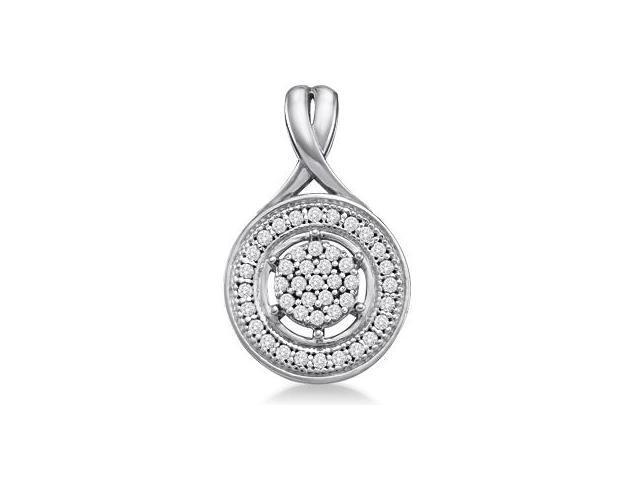 Diamond Fashion Pendant 10k White Gold Charm (0.15 Carat)