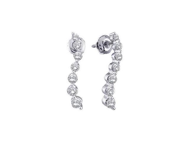 Journey Diamond Earrings 14k Yellow Gold (1/4 Carat)