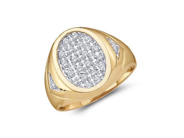 Mens Diamond Ring 10k Yellow Gold Anniversary Band (0.25 Carat)