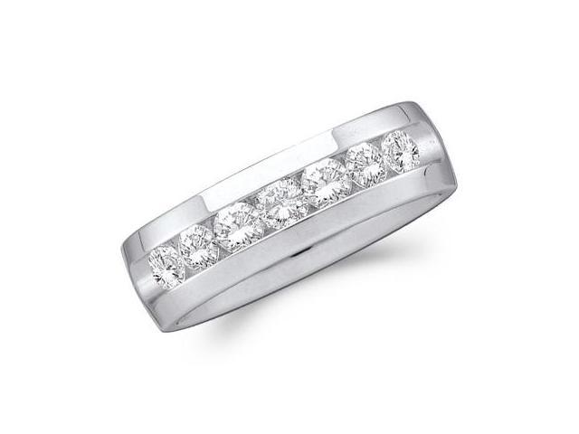 Men Diamond Wedding Ring 14k White Gold Engagement Band (0.27 Carat)
