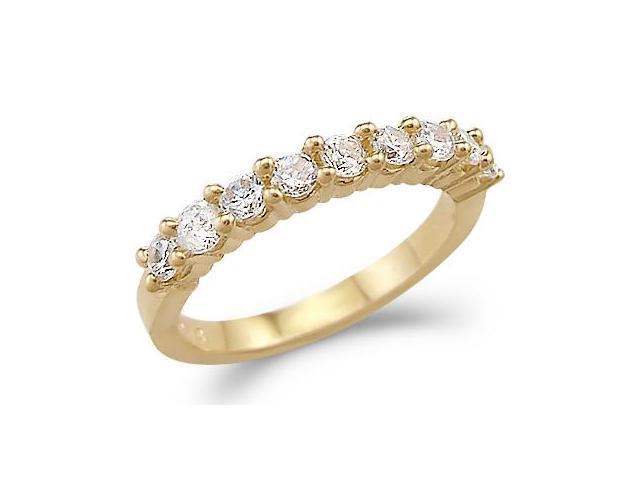 CZ Wedding Ring 14k Yellow Gold Cubic Zirconia Bridal Band 1.00 Carat