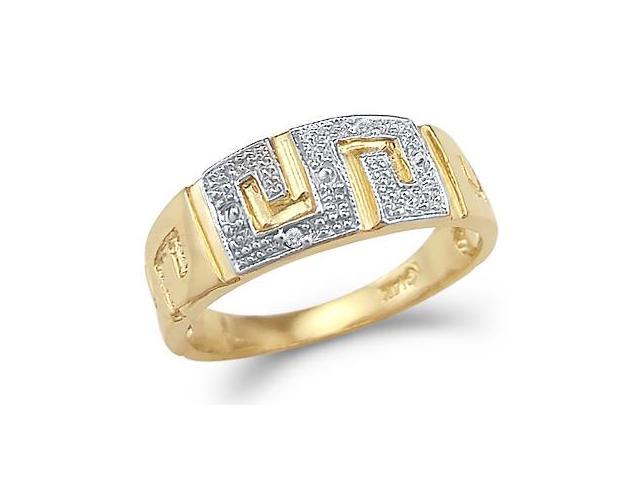 CZ Fashion Maze Band 14k Yellow Gold Fashion Ring Cubic Zirconia