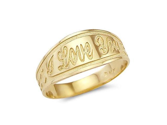 I Love You Ring 14k Yellow Gold Fashion Band
