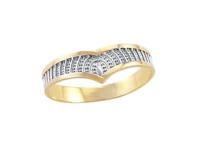 Right Hand Ring 14k White Yellow Gold Band