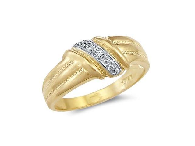 Fashion Anniversary Ring 14k White Yellow Gold Ladies Band