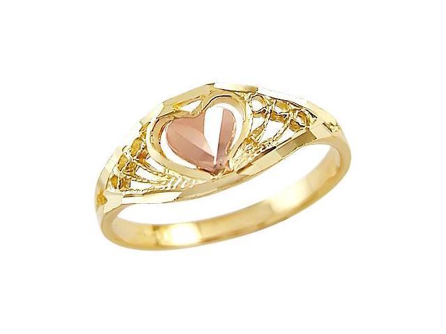 Heart Ring 14k Yellow Rose Gold Anniversary Band