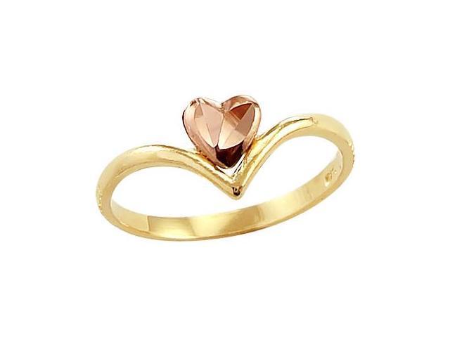Heart Ring 14k Rose Yellow Gold Fashion Band