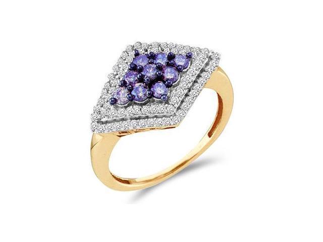Champagne Brown Diamond Ring 10k Yellow Gold Women's (0.80 Carat)