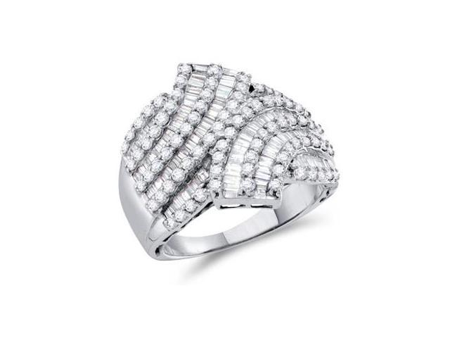 Diamond Ring 14k White Gold Fashion Anniversary Band (1.75 CTW)