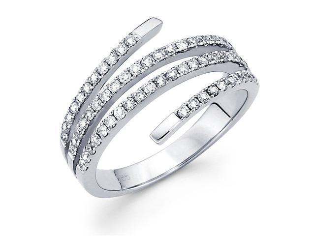 Diamond Anniversary Ring 14k White Gold Fashion Band (1/2 Carat)