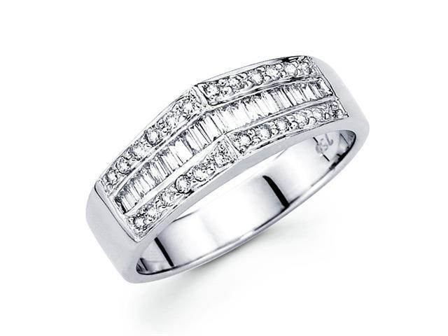 Diamond Anniversary Band 18k White Gold Fancy Ring (0.39 Carat)