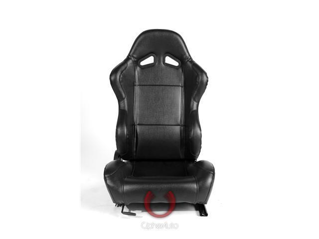 CPA1001 Black PVC Universal Racing Seats