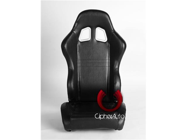 CPA1007 Black PVC Universal Racing Seats