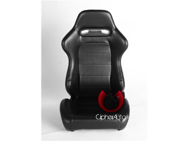 CPA1013 Black PVC Vinyl Racing Seats