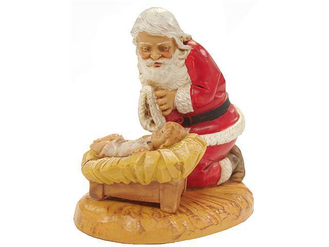 Fontanini Kneeling Santa with Baby Jesus Figure #65015